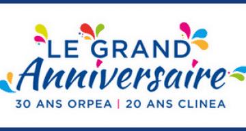 logo grand anniversaire orpea clinea